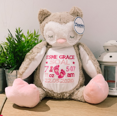 Personalised New Baby Owl Teddy